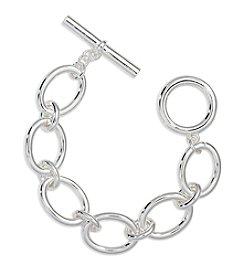 Lauren Ralph Lauren® Icons Silvertone Oval Link Bracelet