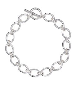 Lauren Ralph Lauren® Icons Silvertone Oval Link 18
