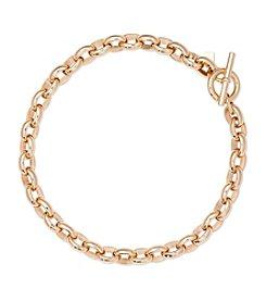 Lauren Ralph Lauren® Icons Goldtone Small Oval Link 18