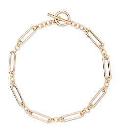 Lauren Ralph Lauren® Icons Goldtone Elongated Link 18