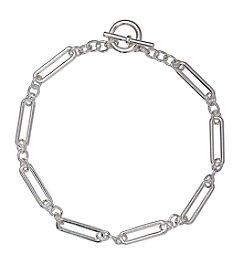 Lauren Ralph Lauren® Icons Silvertone Elongated Link 18