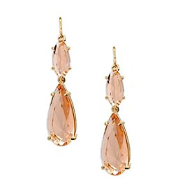 Lauren Ralph Lauren® Mad About Hue Topaz Linear Double Drop Pierced Earrings