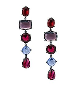 Lauren Ralph Lauren® Mad About Hue Berry Linear Drop Pierced Earrings
