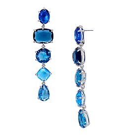 Lauren Ralph Lauren® Mad About Hue Blue Linear Drop Pierced Earrings