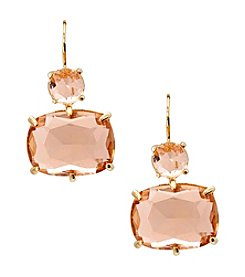 Lauren Ralph Lauren® Mad About Hue Topaz Short Double Drop Pierced Earrings