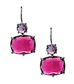 Lauren Ralph Lauren® Mad About Hue Berry Short Double Drop Pierced Earrings