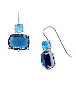 Lauren Ralph Lauren® Mad About Hue Blue Short Double Drop Pierced Earrings