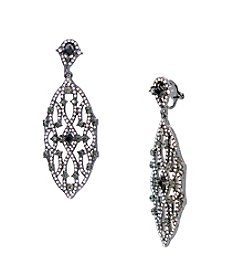 Lauren Ralph Lauren® Estate Hematite and Clear Chandelier Clip-On Earrings