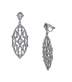 Lauren Ralph Lauren® Estate Silver and Clear Chandelier Clip-On Earrings