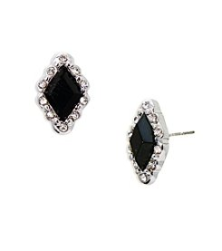 Lauren Ralph Lauren® Estate Black Faceted Stud Pierced Earrings