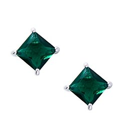 Lauren Ralph Lauren® Estate Green Stone Stud Pierced Earrings