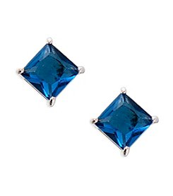 Lauren Ralph Lauren® Estate Blue Stone Stud Pierced Earrings