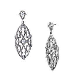 Lauren Ralph Lauren® Estate Silver and Clear Chandelier Pierced Earrings