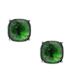 Lauren Ralph Lauren® Hide and Chic Green Clip-On Earrings