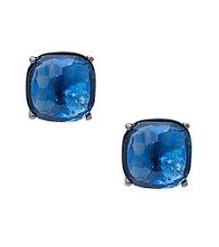 Lauren Ralph Lauren® Hide and Chic Blue Clip-On Earrings