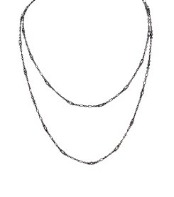 Lauren Ralph Lauren® Hide and Chic Clear Illusion Rope Necklace 40