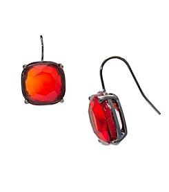 Lauren Ralph Lauren® Hide and Chic Red Stone Drop Pierced Earrings