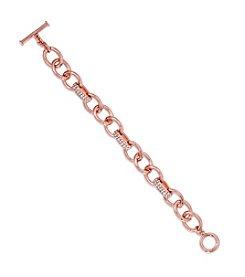 Lauren Ralph Lauren® Rose Palais Pave Link Bracelet