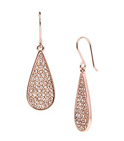 Lauren Ralph Lauren® Rose Palais Small Pave Teardrop Pierced Earrings