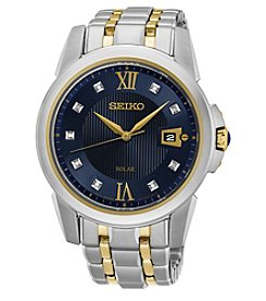 Seiko® Men's Le Grand Sport Solar Two-Tone Watch with Diamond Accents