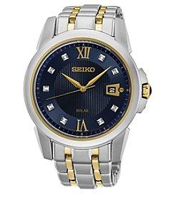 Seiko® Men's Le Grand Sport Solar Two-Tone Watch with Diamond Accents