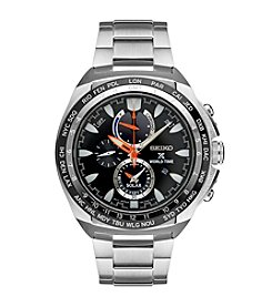Seiko® Men's Prospex World Time Solar Chronograph Watch with Power Reserve