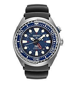Seiko® Men's Prospex Kenetic GMT Diver with Blue Silicone Strap