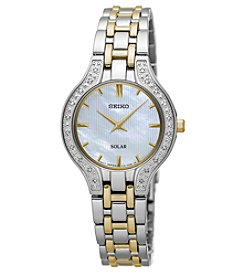 Seiko® Women's Solar Two-Tone with Diamond Accents