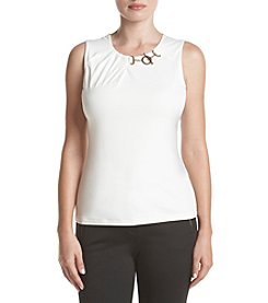 Ivanka Trump® Hardware Neck Tank Top