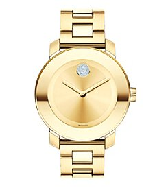 Movado Bold® Women's Bold Crystal Goldtone Watch