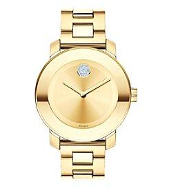 Movado Bold® Women's Bold Crystal Goldtone Watch