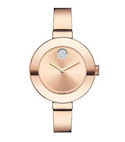 Movado Bold® Women's Bold Rose Goldtone Bangle Watch