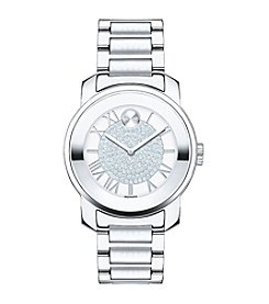 Movado Bold® Women's Bold Luxe Crystal Dial Silvertone Watch