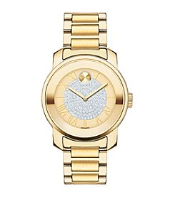 Movado Bold® Women's Bold Luxe Crystal Dial Goldtone Watch