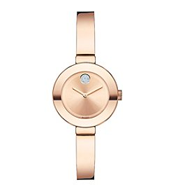 Movado Bold® Women's Bold Rose Goldtone Bangle Watch