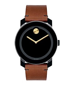 Movado Bold® Men's Bold Leather Strap Watch