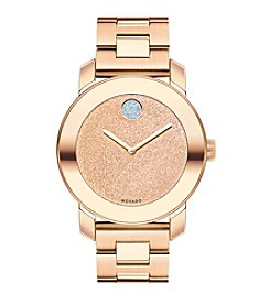 Movado Bold® Women's Bold Glitter Dial Rose Goldtone Watch