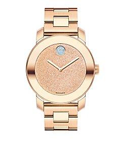 Movado Bold® Women's Bold Glitter Dial Rose Goldtone Watch