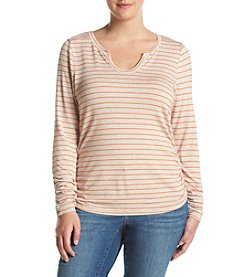 Democracy Plus Size Striped Knit Top