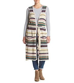 Democracy Plus Size Striped Duster Vest