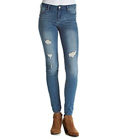 Celebrity Pink Senorita Medium Wash Destructed Skinny Jeans