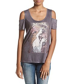 Jessica Simpson Cold Shoulder Graphic Tee