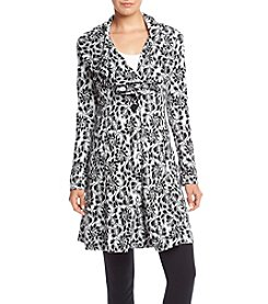 Fever™ Cascade Collar Printed Coat