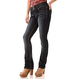 Wallflower® Deep Saturated  Body Curve Slim Bootcut Jeans