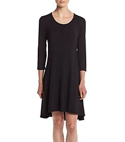 Lennie Scoop Neck Trapeze Dress