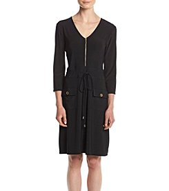 Lennie Matte Jersey Front Pocket Sheath Dress