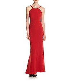 Calvin Klein Halter Matte Jersey Gown