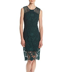 Vera Wang® Lace Overlap Short Dress