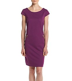 Chetta B. Textured Knit Dress