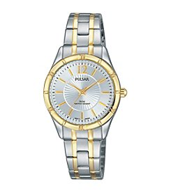 Pulsar® Women's Easy Style Collection Two-Tone Watch with Silver Dial